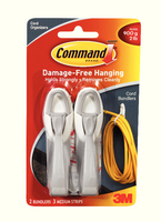 3M Cord Bundlers Command Adhesive x2 Gry