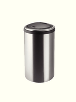 Addis S/Steel D Shape 40L Press Top Bin