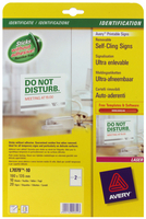 Avery Remove Cling Signs 190X135mm Pk10