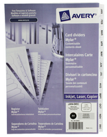 Avery Mylar Div Brt Wht Jan-Dec A4  FPC