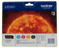 Brother Ink Cart Value Pack LC980 KCMY
