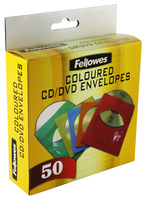 Fellowes CD Paper Envelopes Ast 50Pk