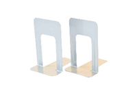 Steelmaster Lge Delux Bookends Sil