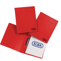Elba Pressboard A4 25mm Rbinder Red