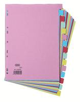 Elba A4 Card Dividers 15 Part Assorted