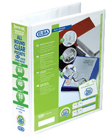 Elba A4 4D Ring 50mm Wht Pan Pres Binder