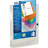Elba Polyvision Box File Clear Pk8