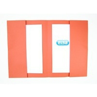 Elba Double Pocket Wallet 285Gsm Orange