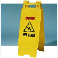 Safety Sign Folding Ylw Wet Flr Cnt