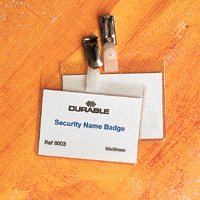 Badge 60x90mm Security Pk25 8003