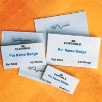 Badge 40x75mm Pin Handy Pack Pk10 8608