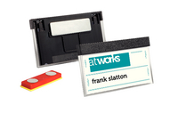 Name Badge Slct/Mag 30X60mm Pk25 Blk