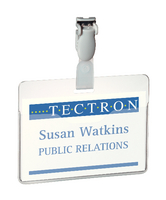 Badge 60x90mm Visitor Clear Pk25 8147/19