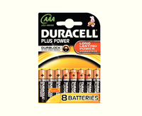 Duracell Plus Battery AAA Pk8 81275401