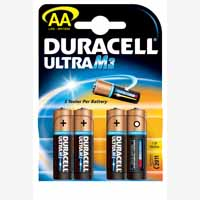 Duracell Battery Ultra Pk4 AA 75051955