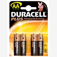 Duracell Battery Plus AA Pk4 75051961