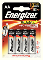Energizer Ultra Plus Battery AA Pk4