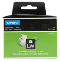 Dymo Name Badge 89x41mm White 11356
