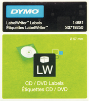 Dymo CD/DVD Labels White 14681