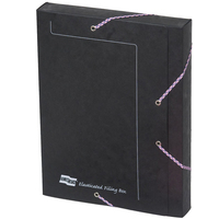 Europa Elasticated Filing Box 25Mm Black