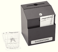 Safco Locking Steel Suggestion Box Blk