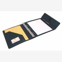 Masters Trifold Conf Folder Pen/Pad Blk