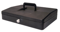 Helix 30cm Sloping Lid Cash Box Black