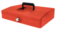 Helix 30cm Sloping Lid Cash Box Red