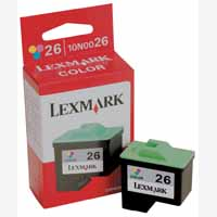 Lexmark No26 Ink Cart Col N0026