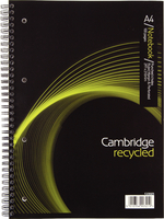 Cambridg Recyc A4 Wirebound Nbk 100 Page
