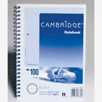Cambridge Spirl Nbk A5 2H Ft 50 Leaf Sb