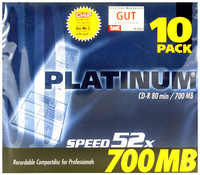 Q-Connect CD-R 80Min 700MB Slim Pk10
