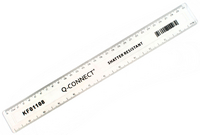 Q-Connect Ruler Shatterproof 30cm Clear
