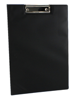 Q-Connect PVC Clipboard Foldover Blk