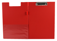 Q-Connect PVC Clipboard Foldover Red