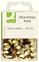 Q-Connect Drawing Pins Solid Head Pk120