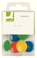 Q-Connect Magnets 24mm Assorted Pk6