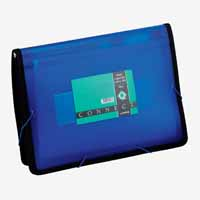 Q Connect Extra Capacity Carry File Blue