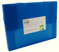 Q-Connect Elasticated BoxFile Blue