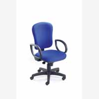Vega High Back Synchro Ops Chair Blue