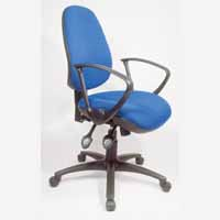 Vega High Back Task Synchro Chair Blue