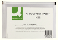 Q-Connect Doc Wallet Zip A5 Transparent