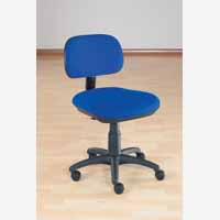 Sirius Manual Typist Chair Blue