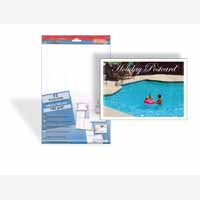 Decadry Xtra Fn Perf Postcards  Wht Pk72