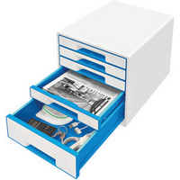 Leitz 5 Drawer Cube Blue