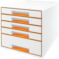 Leitz 5 Drawer Cube Orange