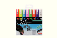 Uni Chalk Markers Medium Assorted Pk8