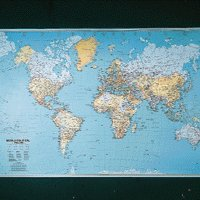Map World Political Laminated Map BEX