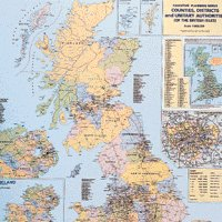Map Counties/Regions UK Framed Map