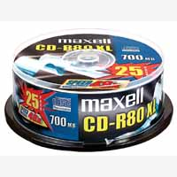 Maxell Cd-R Spindle Pk25 628522